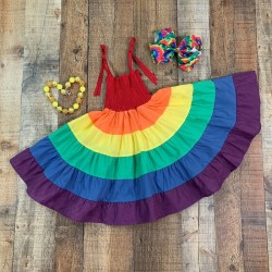 Colors of the Rainbow Twirl Dress