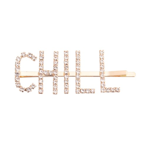 Gold CHILL Sparkle Hair Pin